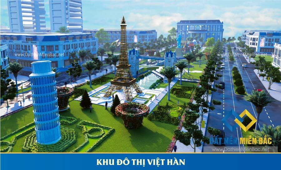 phối cảnh khu đô thị Việt hàn Phổ Yên Thái Nguyên
