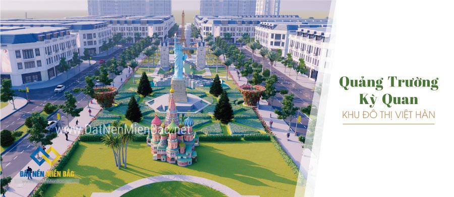 Quảng trường kỳ quan khu đô thị Việt Hàn