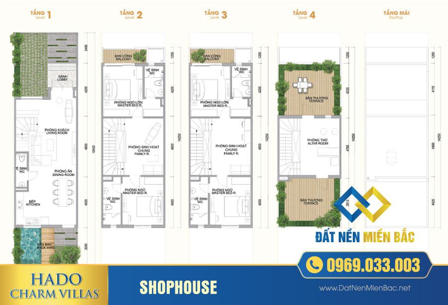 Thiết kế Shophouse Hà Đô Charm Villas An Khánh