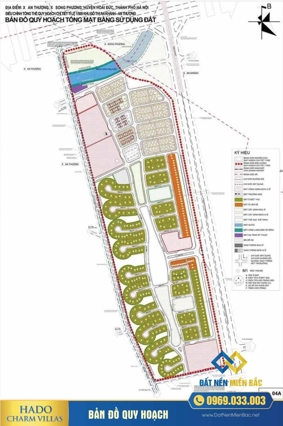 Bản đồ quy hoạch dự án Hà Đô Charm Villas