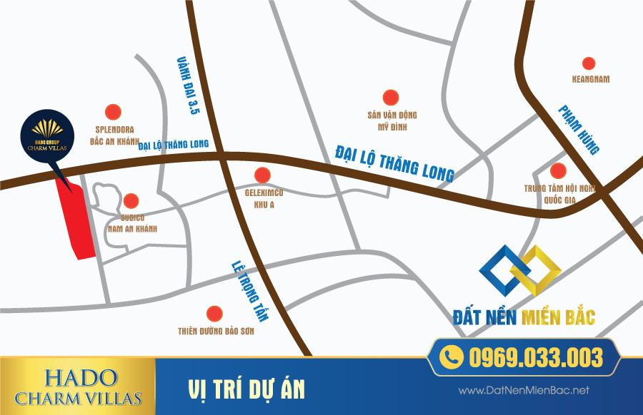 Vị trí dự án Hà Đô Charm Villas