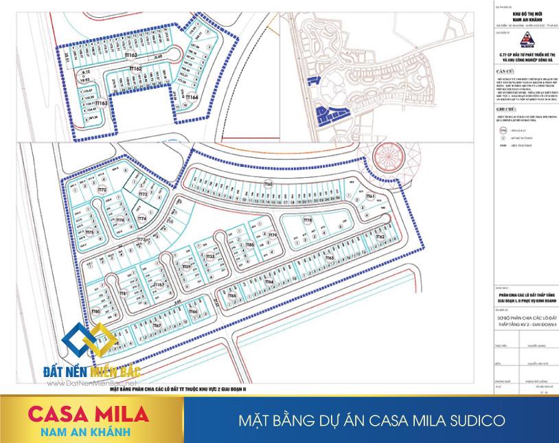 Mặt bằng dự án Casa Mila Nam An Khánh