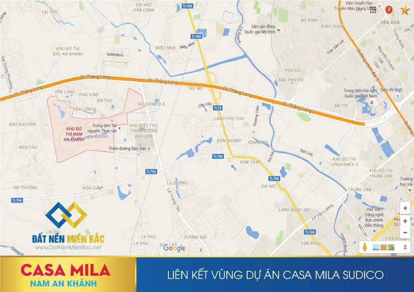 Vị trí dự án Casa mila Nam An Khánh